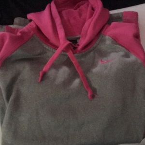 Nike therma fit xs pink and grey sweater